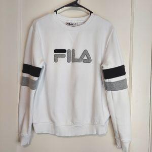 Fila White Cotton Sweatshirt size Medium